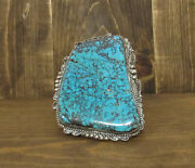 Stunning Vintage Sterling Silver And Turquoise Statement Cuff Bracelet