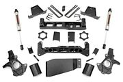 Rough Country 7.5in Gm Lift Kit strut Spacer W/v2 Shocks 07-13 1500 Pu