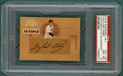 2005 Donruss Leather And Lumber Gaylord Perry Auto Issue - Lc-25 Psa 8 Giants