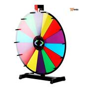 Spinning Wheel Of Fortune 24 Portable 14 Slot Dry Erase Table Stand - Rsenio