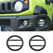 Black Front Side Turn Signal Light Lamp Cover Trim For Suzuki Jimny 19+ Exterior