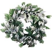 Frosted Pine And Silver Seeded Eucalyptus Artificial Wreath 24