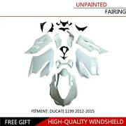 Unpainted Injection Fairing Bodywork Cowl Frame For Ducati 1199 Panigale 12-15