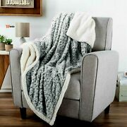 Super Soft Sherpa Fleece Throw Blanket Swirly 50 X 60 Inches Couch Chair Bed War