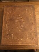 1858 Holy Bible, Leather Bound, Old New Testaments Apocrypha Phinney Co