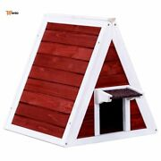 Wood House For Cat Small A-frame Kitten Pet Nest Condo Outdoor Indoor - Rsenio