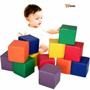 Building Blocks Play Set Baby Soft Pu Foam Big Toy Infant Toddler Room 12-rsenio