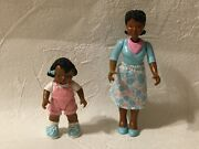 Fisher Price Loving Family Dream Dollhouse African American Girl Pink Doll And Mom