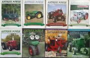 8 Antique Power Tractor Collectors Magazines Mixed From 2004 To 2007
