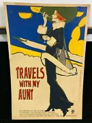 Vintage 1972 Travels With My Aunt Movie Poster Board Signed By Perter Palombi