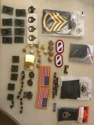 Huge Estate Fresh Lot Military Items Medals Pins Badges Insignia Army
