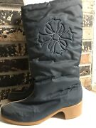 Vintage Women's Hush Puppies Boots Size 10 M Wide Winter Polar Fawn Boots Teal