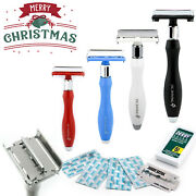 Butterfly Safety Razor And Blades - Double Edge Safety Razor - Plastic Free, Gift