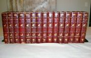Works Of Jules Verne Andndash Complete In 15 Volumes 1911 The Original Leather Binding