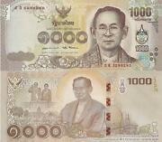 Thailand 1,000 Baht Banknote World Paper Money Unc Currency P134 2015 Bill Note