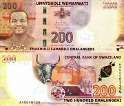 Swaziland 200 Emalangeni Banknote World Paper Money Unc Currency Pick P43a 2017
