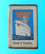 Canadian Pacific - Canada And Usa Antique Canvas Emigrants Ticket Wallet Railway
