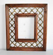 Beautiful Vintage Art Quality Wooden-brass Hand Carved Picture Frame