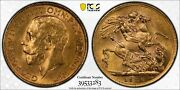 1926 Sa South Africa Gold Sovereign Coin Pcgs Ms62 3283