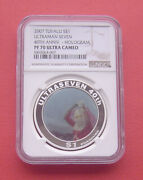 Tuvalu 2007 40th Anniversary Of Ultraman Seven 1 Silver Proof Coin Ngc Pf70uc