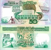 Seychelles 50 Rupees Banknote World Paper Money Unc Currency Pick P34 1989