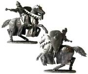 Crusaders Crusader Knight 12th Century Metal Figure 1/32 Tin Toy Soldiers 5045