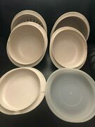 Vintage Tupperware Ultra21 6 Piece Microwave Set - Collander And Lid Included