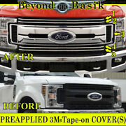 2017 2018 2019 Ford F250xl And Xlt Only Chrome Grille Grill Cover Overlay Insert