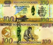Solomon Islands 100 Dollar Banknote World Paper Money Unc Currency Pick P36a