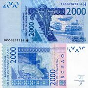 Niger 2000 Francs Banknote World Paper Money Currency P616hm West African State