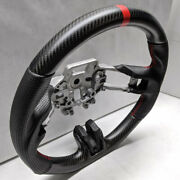 Dry Matte Real Carbon Fiber Steering Wheel For 2015-2017 Ford Mustang Gt