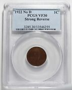 1922 No D Lincoln Wheat Cent Key Date