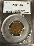 1877 Indian Head Cent Pcgs Key Date