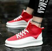 Mens Lace Up High Top Sneakers Athletic Platform Hip Hops Shoes Running Sports