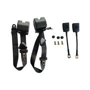 For 2x Safety 3 Point Retractable Car Seat Lap Belt Adjustable Kit Universal E9
