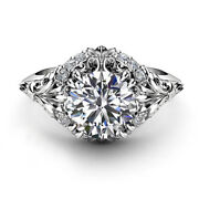 0.75 Ct Round Real Diamond Engagement Ring For Womenand039s 950 Platinum Size 5 6 7 8