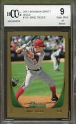 2011 Bowman Draft Gold 101 Mike Trout Rookie Card Bgs Bccg 9 Near Mint+