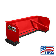 5and039 Red Skid Steer Snow Pusher Box/bobcat/kubota/quick Attach/free Shipping