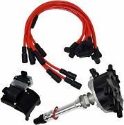 95-07 V6 Chevy Gmc Vortec Distributor Plug Wires Ignition Coil And Module 4.3l 262