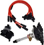 96 02 Chevy Gmc Vortec Distributor, 8mm Spark Plug Wires, Ignition Coil And Module