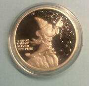 Disney Sorcerer Limited Edition 1 Oz 99.9 Silver Round Sealed Airtight Magician