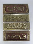 Four Antique Chinese Carved And Gold Gilt Wood Panels