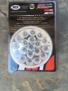 19 Led Flanged Trux Dual Revolution 4 Round Clear Lens Stop Tail Turn Back-up
