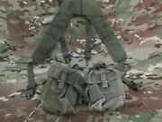 Two 7.62 Small Arms Ammunition Canvas Magazine Pouches Used Combat Suspenders