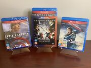 Captain America Trilogy Complete Collection 3d+2d Blu-ray Factory Sealed