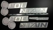 Fountain Boat Emblem Set1 Chrome + Free Fast Delivery Dhl Express - Raised Decal