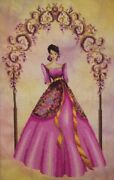 Reina Delas Flores Cross Stitch Kit W/ 16 Count Hand Dyed Aida