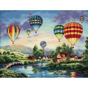 Counted Cross Stitch Dimensions Kit Balloon Glow 16x12