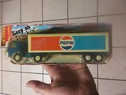 Tootsie Toy Pepsi Delivery Blue Semi Truck Tractor Trailer 1970 Tootsietoy