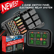 6-gang Switch Panel Relay Automatic Dimmable Circuit Control Box Car Marine 12v
